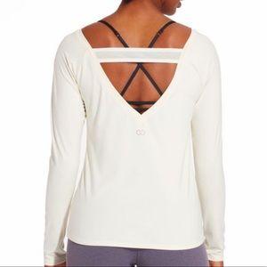 CALIA By Carrie Elastic Back Long Sleeve Shirt